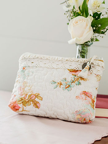 Victorian Rose SM Cosmetic Bag