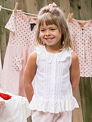 Anglaise Eyelet Girls Blouse