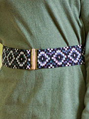 Ikat Beaded Cinch Belt