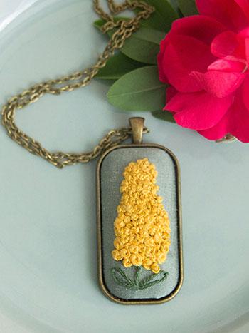 Golden Hyacinth Necklace