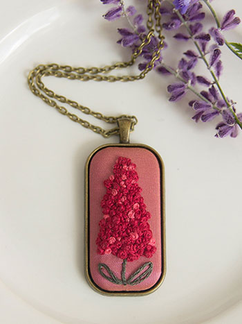 Vintage Hyacinth Necklace