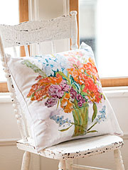 Bountiful Bouquet Cushion