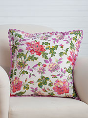 Greta's Garden Crochet Cushion Cover
