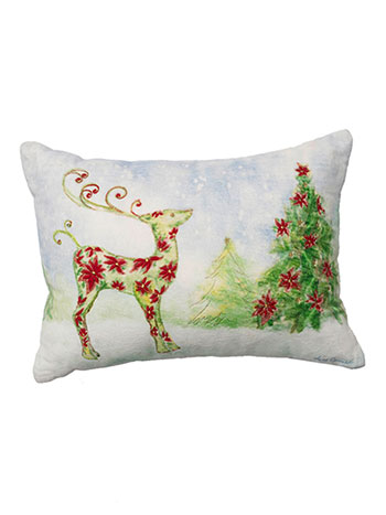 Dear Poinsettia Cushion