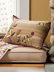 Falling Leaves Emb Cushion