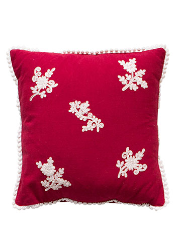 Festive Embroidered Cushion