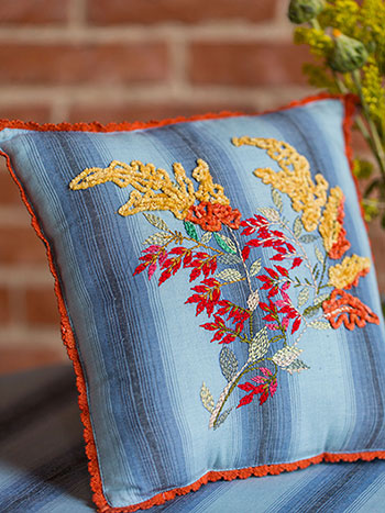 Goldenrod Emb Cushion