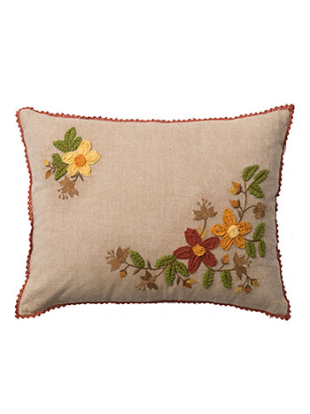 Harvest Homespun Emb Cushion
