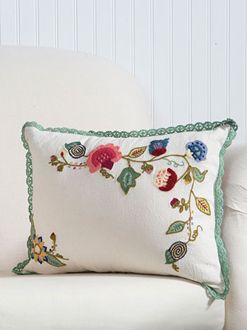 Nevarra Embroidered Embroidered Cushion