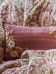 Tea Rose Emb Cushion