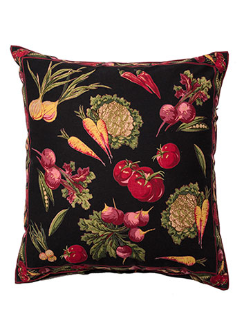 Farm Fresh Cushion Cover - Black