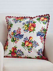 Fruit Basket Cushion Cover