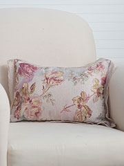Victorian Rose Linen Cushion