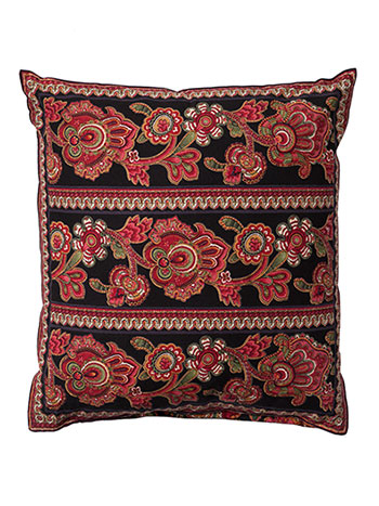 Queen's Court Cushion Cover - Black