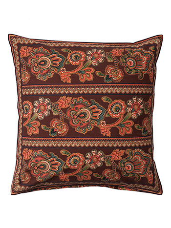 Queen's Court Cushion Cover - Chocolate