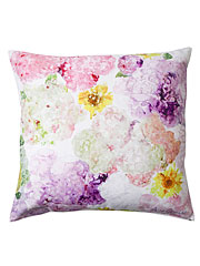 Tumbling Hydrangea Watercolor Cushion Cover