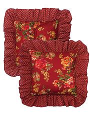 Victorian Rose Cushion Cover - Brick