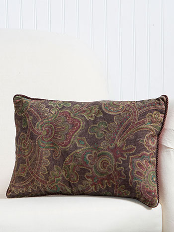Queen's Court Velvet Cushion
