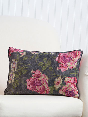Rose Nouveau Velvet Cushion