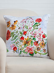 Zinnia Bouquet Cushion Cover