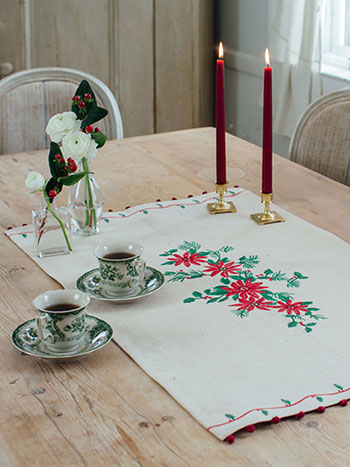 Yuletide Embroidered Centerpiece
