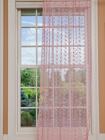 Nanette Net Curtain - Rose