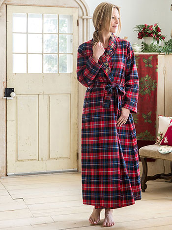 Penny Plaid Dressing Gown