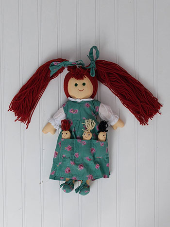 Basket Rose Doll