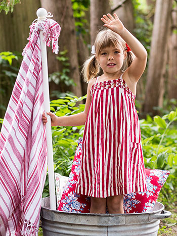 Fair Stripe Girls Sundress