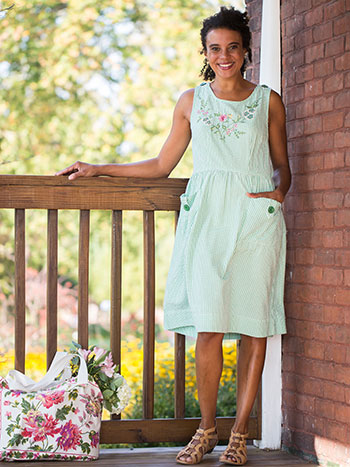 Spearmint Check Dress