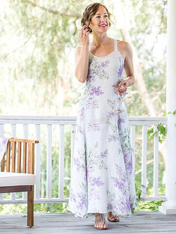 Lilac Linen Dress