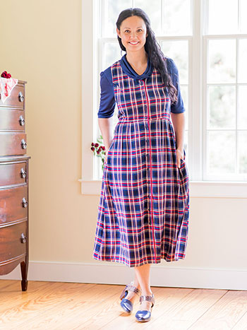 London Plaid Pinafore Dress