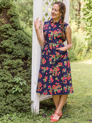 Strawberry Porch Dress