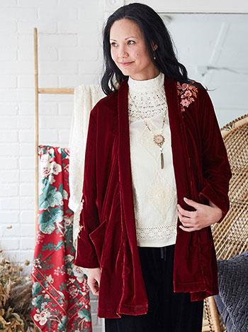 Cabernet Velvet Jacket