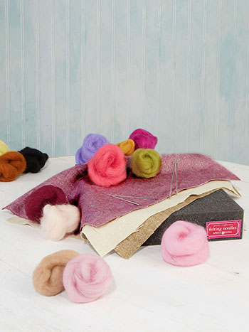 Old Fashion Rose Large Felting Kit