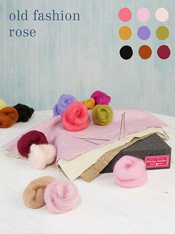 Old Fashion Rose Large Felting Kit