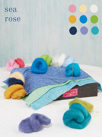 Sea Rose Large Felting Kit
