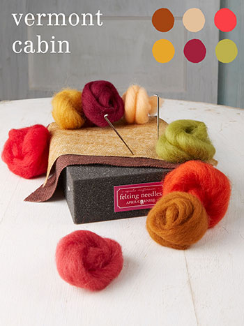 Vermont Cabin Medium Felting Kit