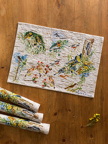 Boreal Birch Birds Placemat S/4