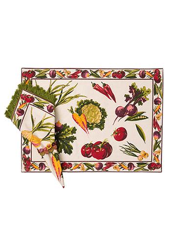 Farm Fresh Placemat Set/4 - Ecru