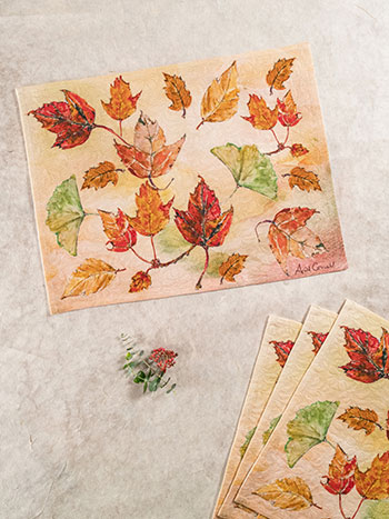 Autumn Leaves Placemat Set of 4