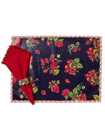 Strawberry Oil Placemat S/4