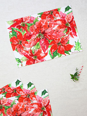 Poinsettia Placemat Set of 4