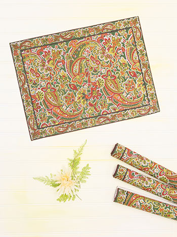 Priscilla's Paisley Placemat Set of 4