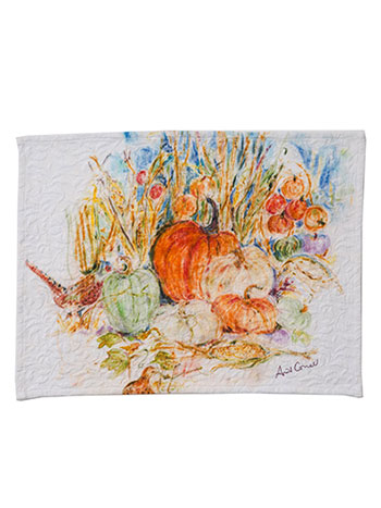 Pumpkins & Pheasant Placemat Set/4