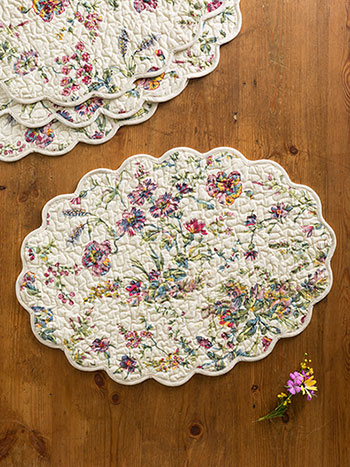 Meadow Placemat Quilted S/4