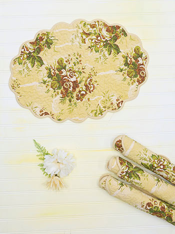 Rosalie Placemat Quilted Set of 4