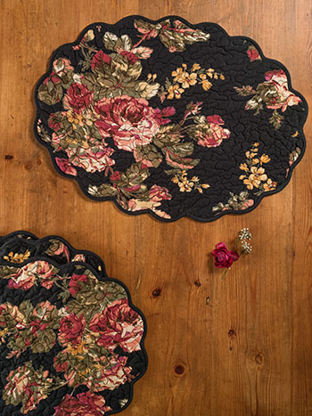 Victorian Rose Placemat Quilted