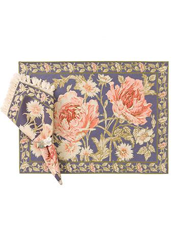 Rose Nouveau Placemat Set/4 - DustyAmethyst