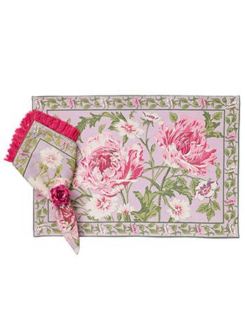 Rose Nouveau Placemat Set/4 - Orchid